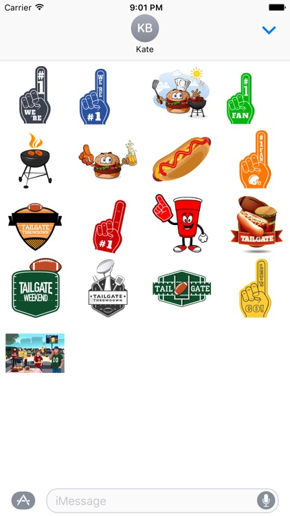 Tailgating Stickers
