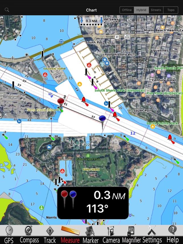 iPad Screenshots Lake Norman Nautical Chart Pro
