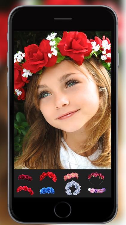 Flower Crown  Hairstyles Makeup screenshot-3