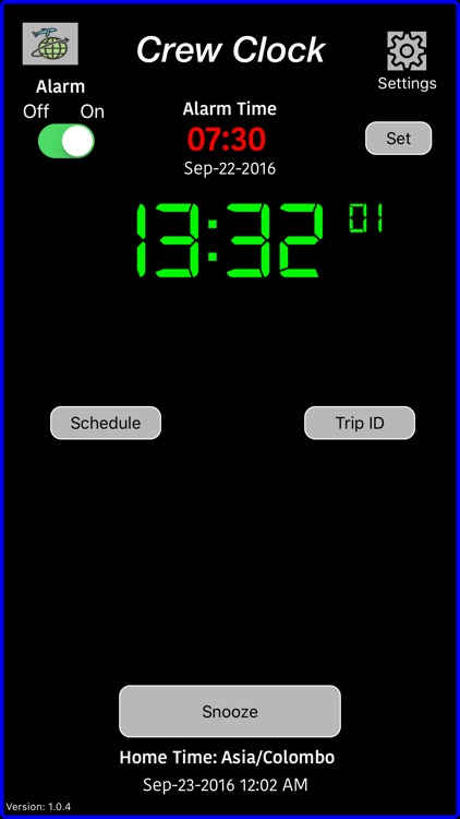 Crew Alarm Clock screenshot-0