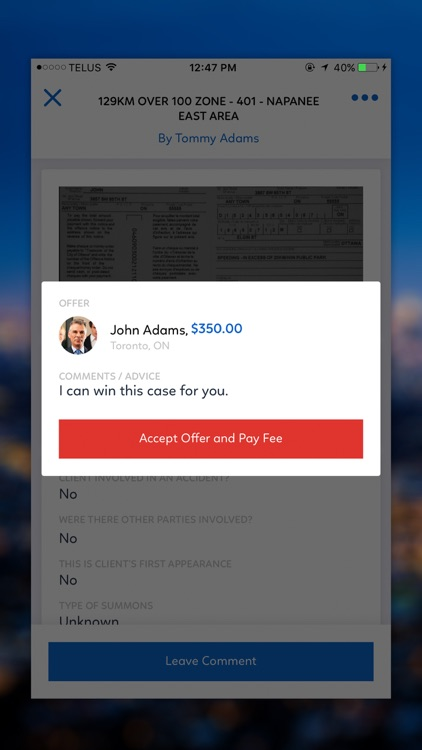 Proffered - Fight traffic tickets, at your price. screenshot-4