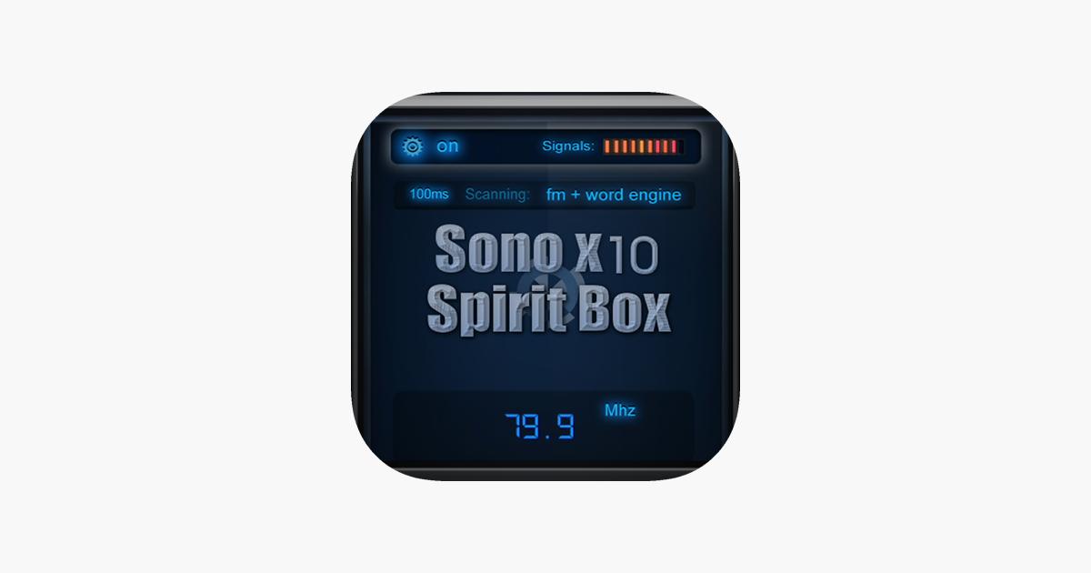 Sono X10 Spirit Box on the App Store