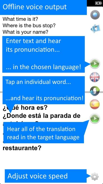 Spanish Offline Translator App