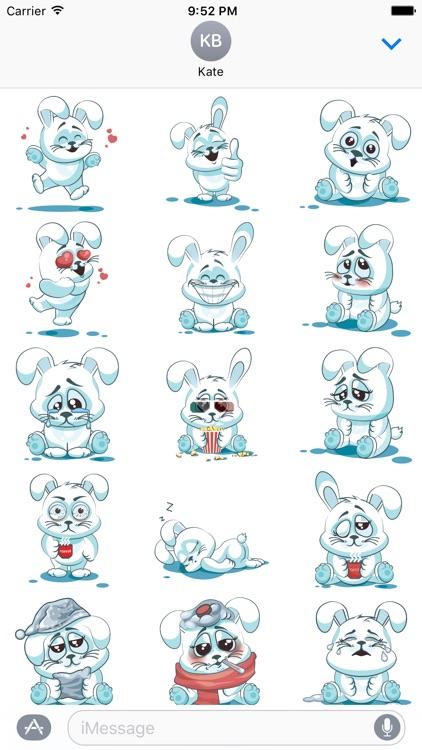 White Bunny Sticker Pack