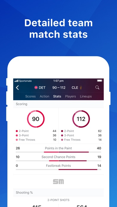 Screenshot for Basketball Live: NBA Scores in United States App Store