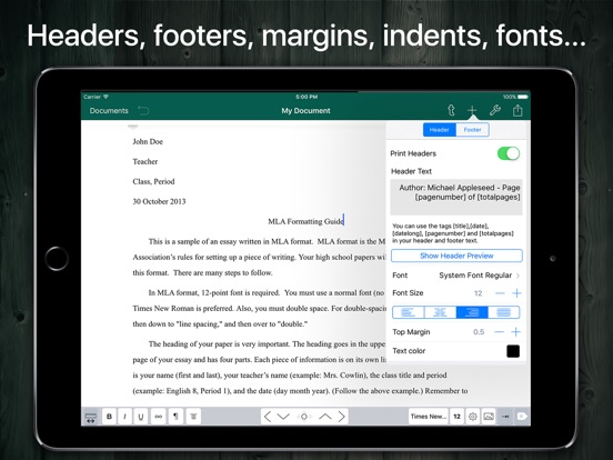 Screenshot #5 pour MLA Format and Document Writer