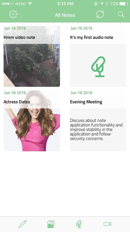 Note Pack - photo, audio, video and text notes