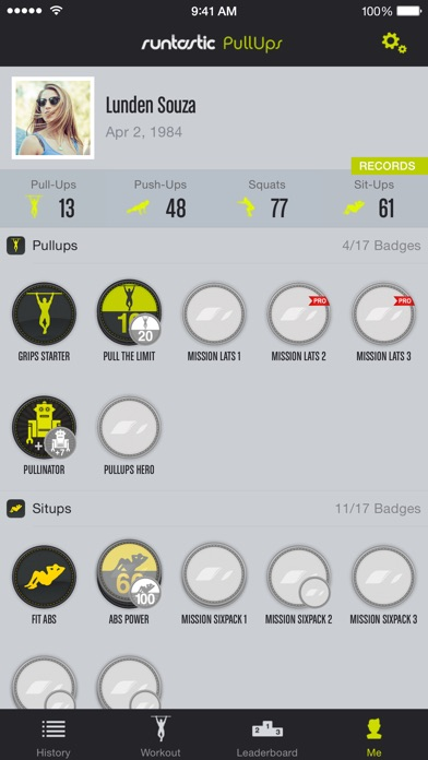 Runtastic Pull-Ups PRO Trainer Screenshots