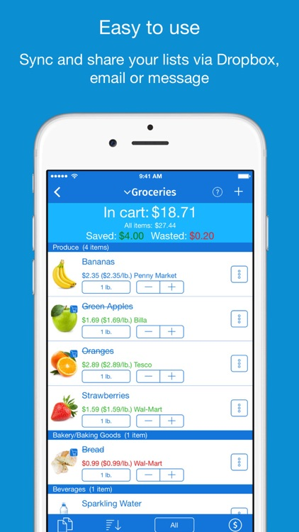 IntelliList - Grocery Shopping List & Price Book app image