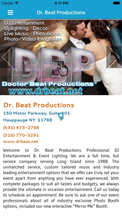Dr  Beat Productions by Bridal Planner Group, Inc