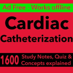 Cardiac Cath Test Bank & Exam Review App : 1600 Study Notes, flashcards, Concepts & Practice Quiz