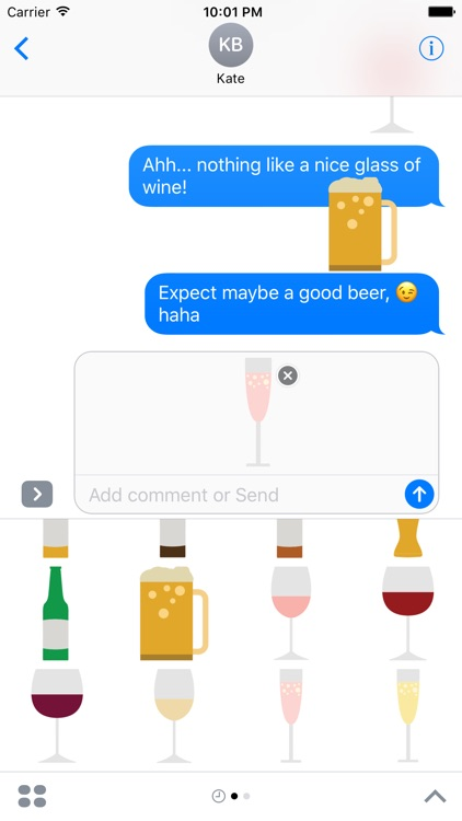 Beer and Wine Sticker Pack for iMessage screenshot-4