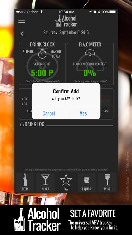 Digital Alcohol Tracker - Your Pocket BAC Meter screenshot-4