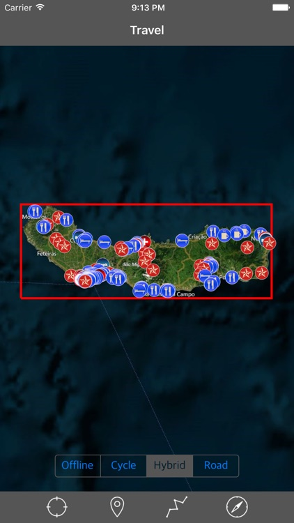 SAO MIGUEL ISLAND – GPS Travel Map Offline Navigator screenshot-0