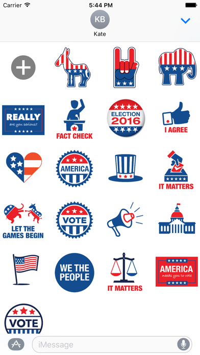 Election 2016 - MYOSE: Make Your Own Sticker Emoji screenshot one