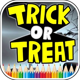 Trick Or Treat Coloring Book - Halloween Game
