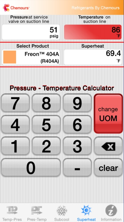 Chemours PT Calc screenshot-3