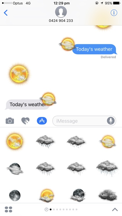 Weather Stickers for Message screenshot-4