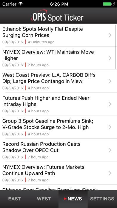点击获取OPIS Mobile Spot Ticker