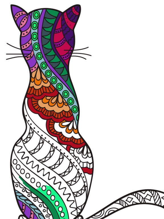 Cats Kittens Mandalas Coloring Book For Adults App Price Drops