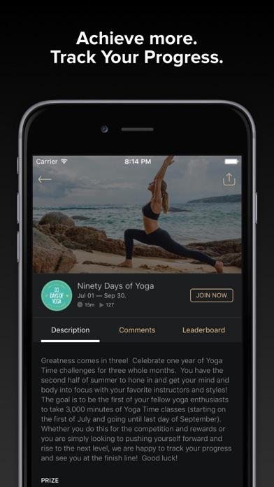 Yoga Time — Yoga videos and meditations Screenshot on iOS