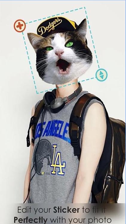 Animal Face Stickers Camera