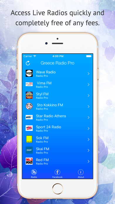 Greece Live Radio Pro screenshot one