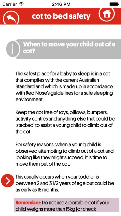 Red Nose Cot-to-Bed Safety screenshot-4