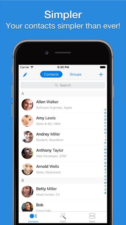 Simpler - Smart contacts manager
