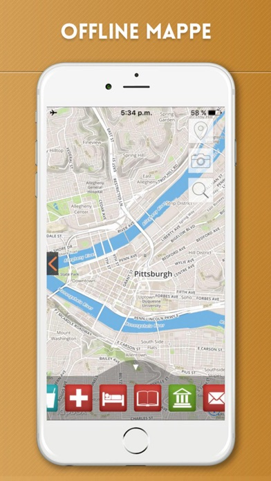 Screenshot of Pittsburgh Guida Turistica con Mappe Offline5