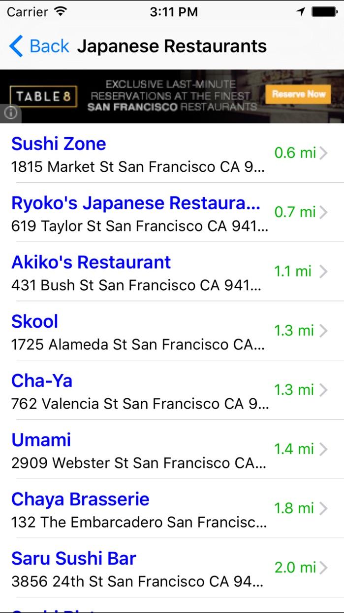 Food Finder FREE! Find Top Restaurants Around Town Screenshot