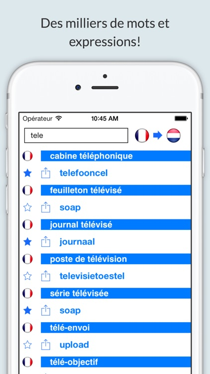 Offline French Dutch Dictionary with Voice