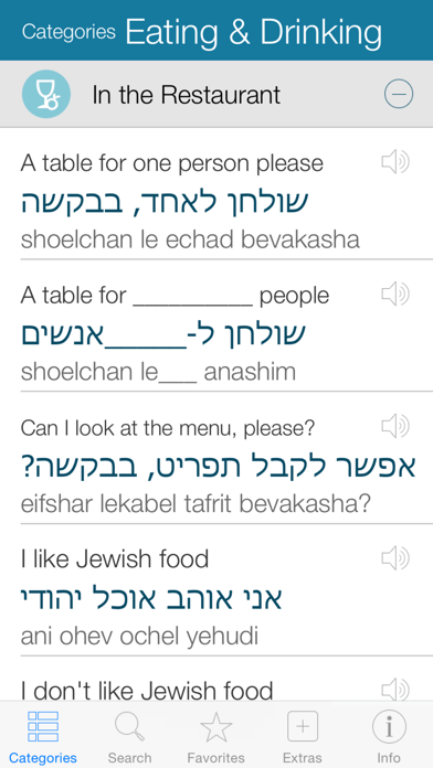 Hebrew Pretati - Speak with Audio Translation screenshot two