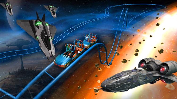Space Roller Coaster 3D screenshot-3