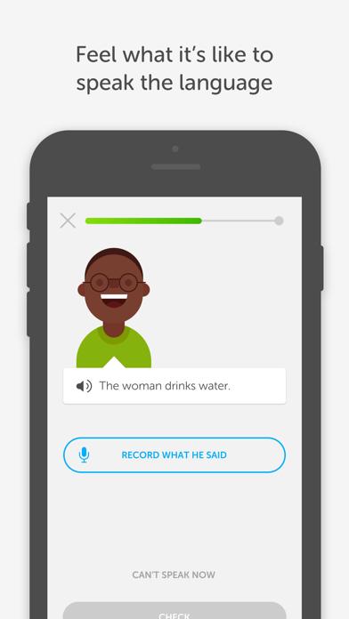 Screenshot 2 for Duolingo's iPhone app'