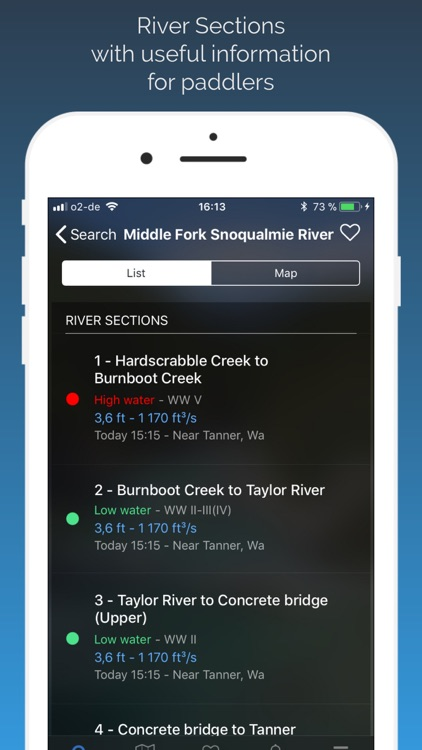 RiverApp - River levels