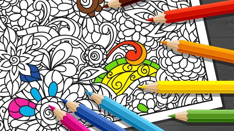Mandala Coloring Book - Adults Coloring Book Relax screenshot-4