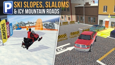Ski Resort Parking Sim Ice Road Snow Plow Trucker App 截图