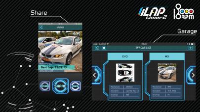 iLapTimer 2:Motorsport GPS Lap Timer & Data Logger screenshot two