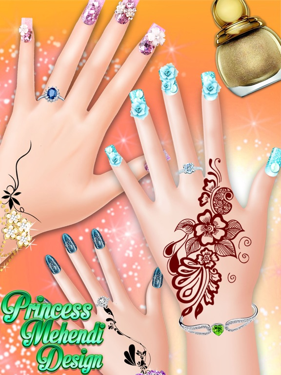 Princess Mehndi Designs Nail Art Salon Girls Game App Price Drops