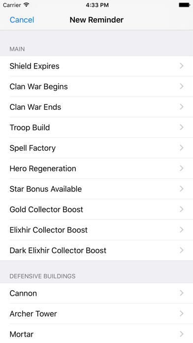 Clash Reminders screenshot three