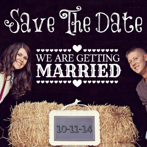 save the date wedding invitation photo editor app revisión photo