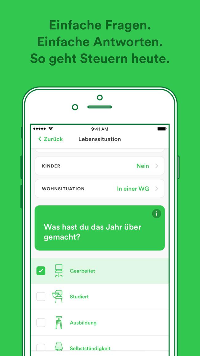 Taxfix - Die Steuer-App Screenshot