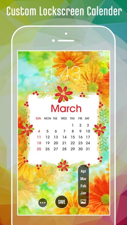 Lock screen Calendar Themes