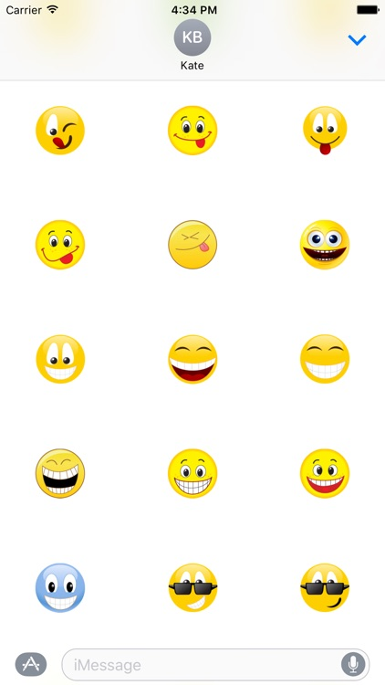 "Happy Smilies ""Big Smile Stickers"" for iMessage screenshot-4"