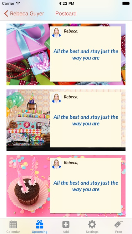 Birthday-Calendar screenshot-4