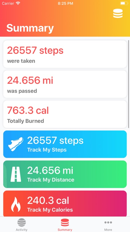 Ball Games: Track My Calories