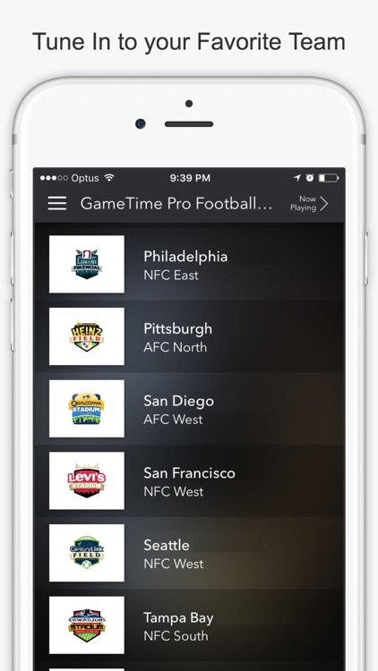 GameTime Football Radio - Stream Live NFL Games screenshot-2