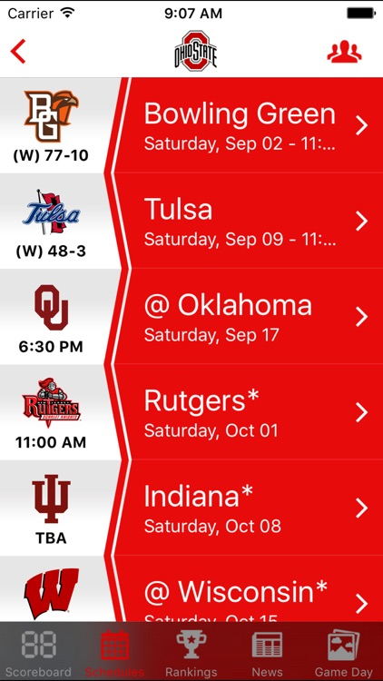 Top 25 College Football Schedules & Scores screenshot-1