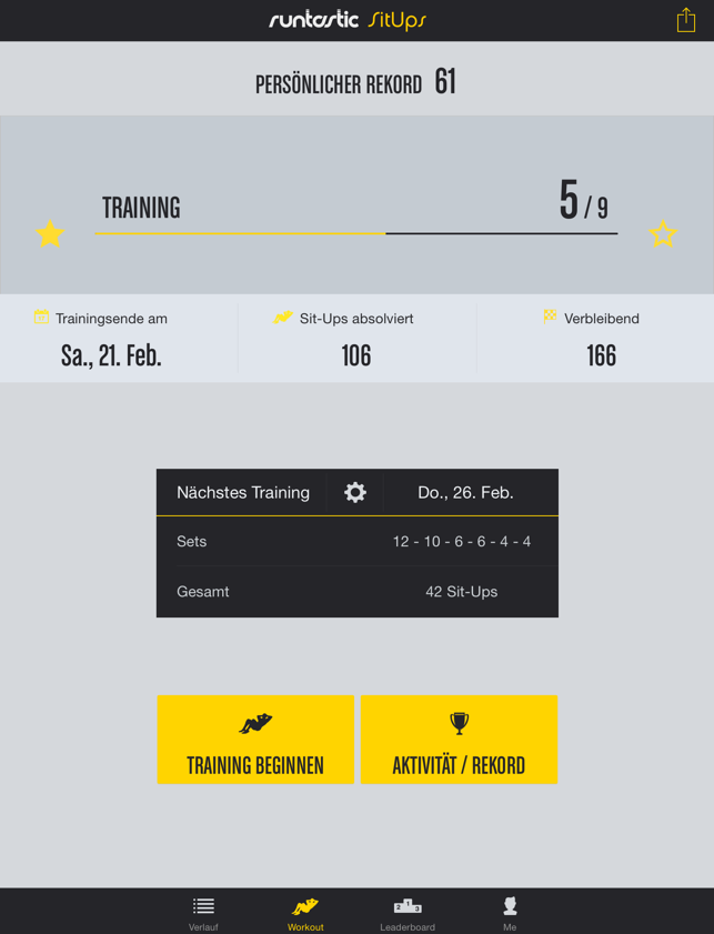 Runtastic Sit-Ups Trainer PRO Screenshot